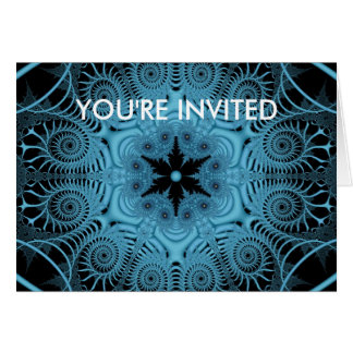 Blue - YOU'RE INVITED Greeting Cards