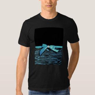 Blue Zebra and ribbon bow graphic Shirt