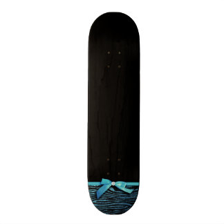 Blue Zebra and ribbon bow graphic Skateboard Deck