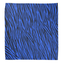 Blue Zebra Animal Print Bandana
