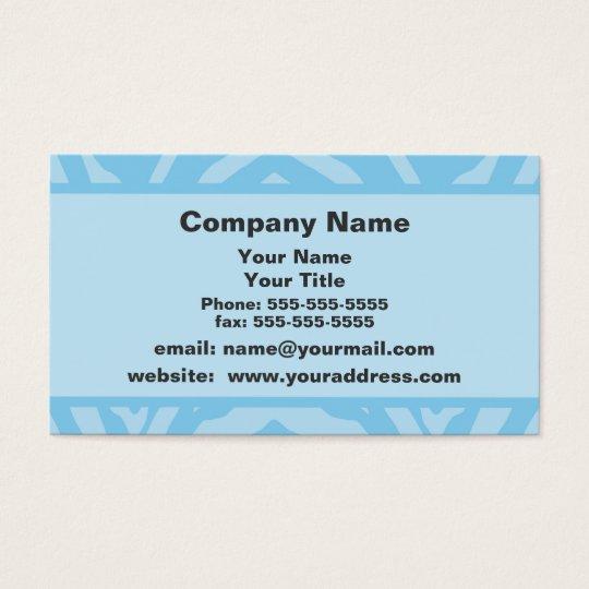 Blue Zebra Appointment Reminder Business Card