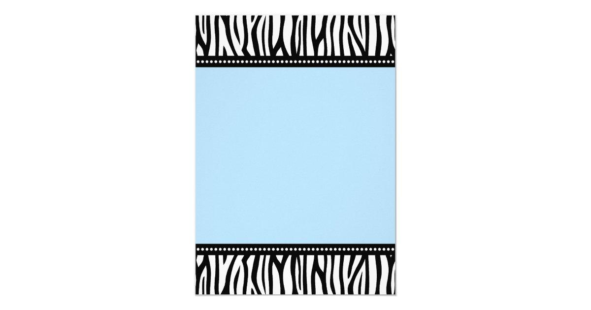 Blue Zebra Boy Baby Shower Invitations   Zazzle