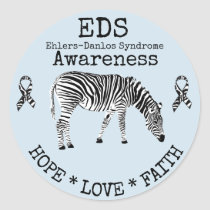 Blue Zebra Ehlers-Danlos syndrome EDS Sticker