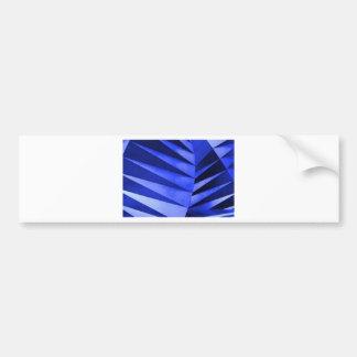 blue zebra leaves bumper sticker