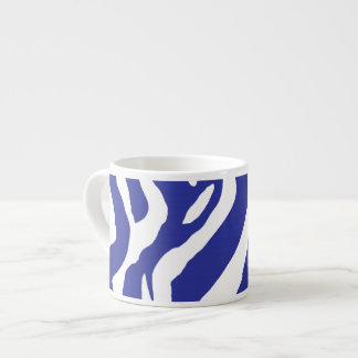 Blue zebra mug