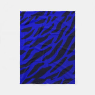 Blue Zebra Print fleece blanket