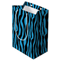 Blue Zebra Print Gift Bag