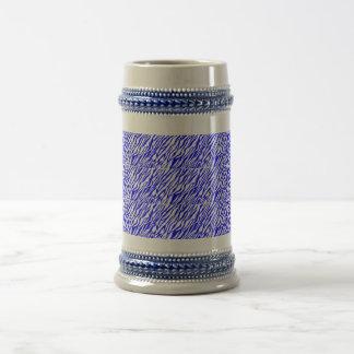 Blue Zebra print mug