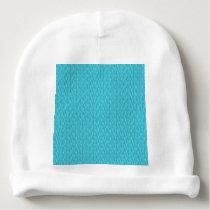 Blue Zebra Print Pattern Baby Beanie