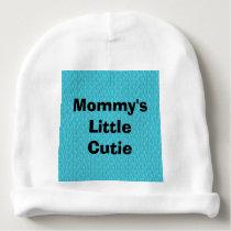 Blue Zebra Print Pattern Customizable Baby Beanie