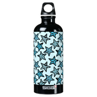 Blue zebra print stars SIGG traveler 0.6L water bottle