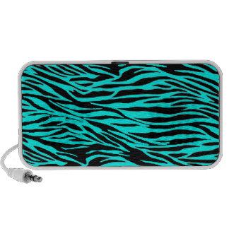 Blue Zebra Print Travel Speaker