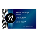 Blue Zebra & Ribbon Business Card