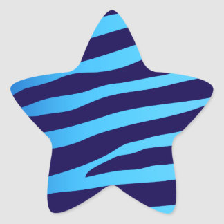 Blue Zebra Star Sticker