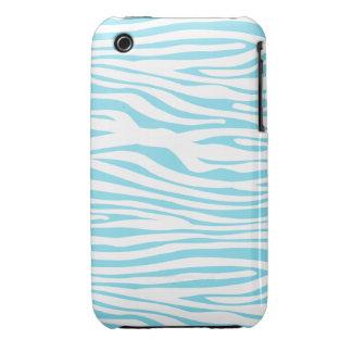 Blue Zebra stripe pattern iPhone 3 Case-Mate Cases