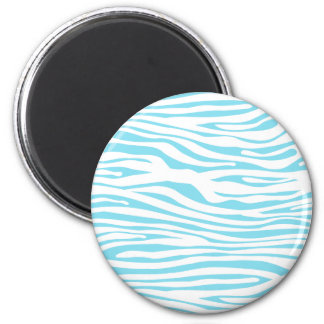 Blue Zebra stripe pattern Magnet