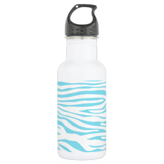 Blue Zebra stripe pattern Stainless Steel Water Bottle