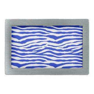 Blue Zebra Stripes Belt Buckle