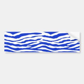 Blue Zebra Stripes Bumper Sticker