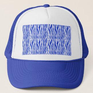 Blue Zebra Stripes Trucker Hat
