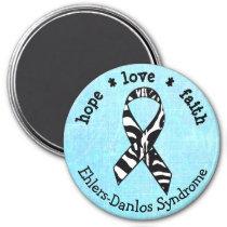 Blue Zebras EDS Ehlers-Danlos syndrome Magnet