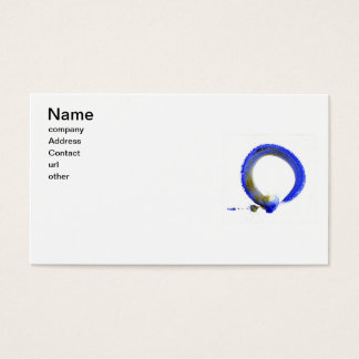 Blue Zen Enso Business Card