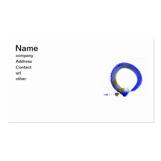 Blue Zen Enso Business Card Templates