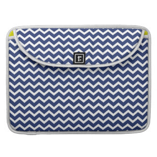 Blue Zig Zag Chevrons Pattern Sleeve For MacBook Pro