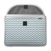 Blue Zig Zag Chevrons Pattern Sleeve For MacBooks