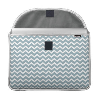 Blue Zig Zag Chevrons Pattern Sleeve For MacBooks