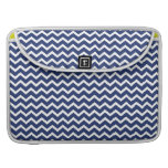 Blue Zig Zag Chevrons Pattern Sleeves For MacBook Pro