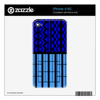Blue zig zag cubic decal for the iPhone 4