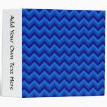 Blue Zig Zag Pattern. Binders