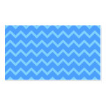 Blue Zig Zag Pattern. Double-Sided Standard Business Cards (Pack Of 100)