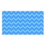 Blue Zig Zag Pattern. Business Card Template