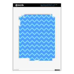 Blue Zig Zag Pattern. Decals For iPad 3