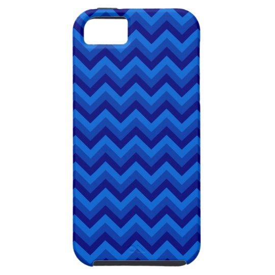 Blue Zig Zag Pattern. iPhone SE/5/5s Case