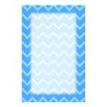 Blue Zig Zag Pattern. Personalized Stationery