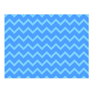 Blue Zig Zag Pattern. Postcard
