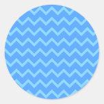 Blue Zig Zag Pattern. Sticker