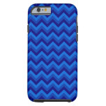 Blue Zig Zag Pattern. Tough iPhone 6 Case