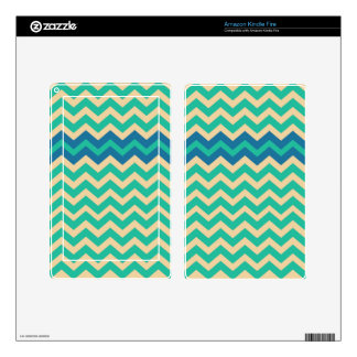 Blue Zigzag Border Kindle Fire Skin