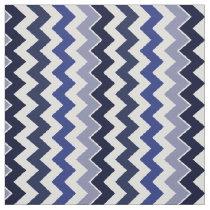 blue zigzag chevron pattern fabric