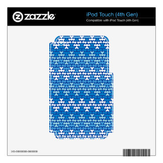 Blue Zigzag Decals For iPod Touch 4G