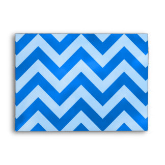 Blue Zigzag Envelope