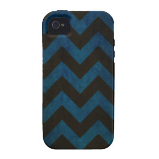 Blue ZigZag Grunge Case-Mate iPhone 4 Cover