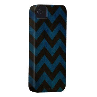 Blue ZigZag Grunge iPhone 4 Cover
