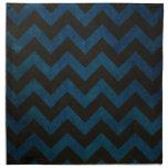 Blue ZigZag Grunge Printed Napkins