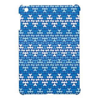 Blue Zigzag iPad Mini Case