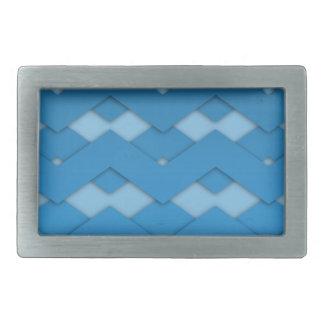 Blue Zigzags Belt Buckle